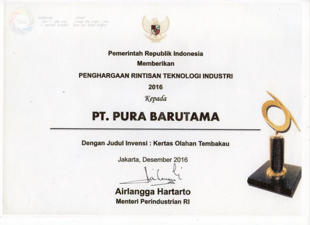 Industrial Technology Pioneer Award 2016